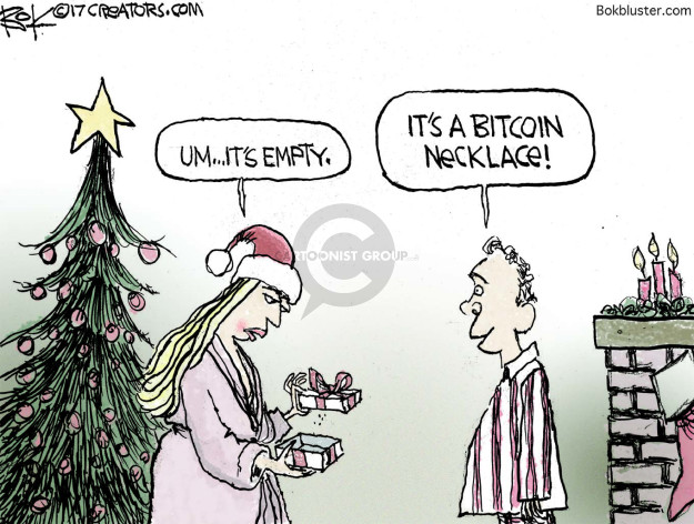 Chip Bok  Chip Bok's Editorial Cartoons 2017-12-21 digital currency
