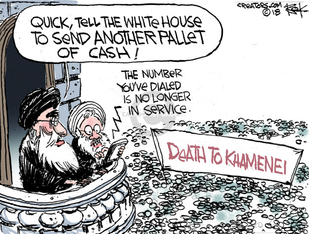 Quick, tell the White House to send another pallet of cash! The number youve dialed is no longer in service. Death to Khamenei.