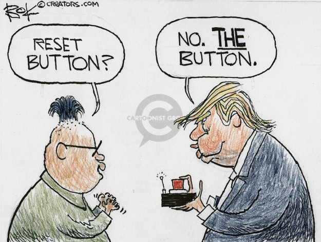 Cartoonist Chip Bok  Chip Bok's Editorial Cartoons 2018-03-10 negotiation