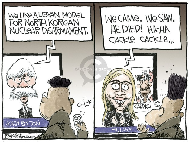 Chip Bok  Chip Bok's Editorial Cartoons 2018-05-19 Hillary