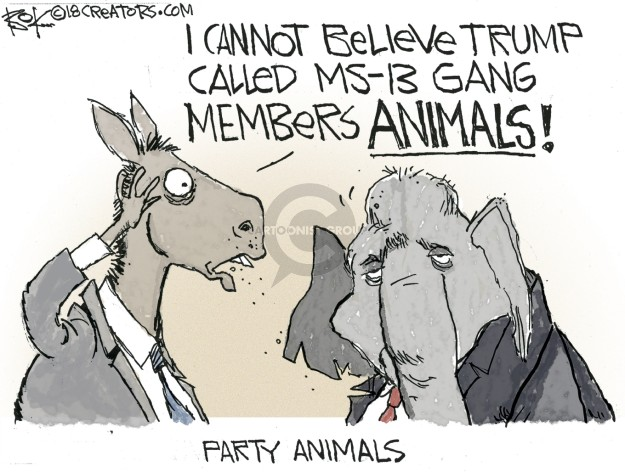 Cartoonist Chip Bok  Chip Bok's Editorial Cartoons 2018-05-23 republican party