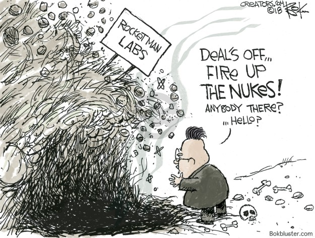 Chip Bok  Chip Bok's Editorial Cartoons 2018-05-25 nuke