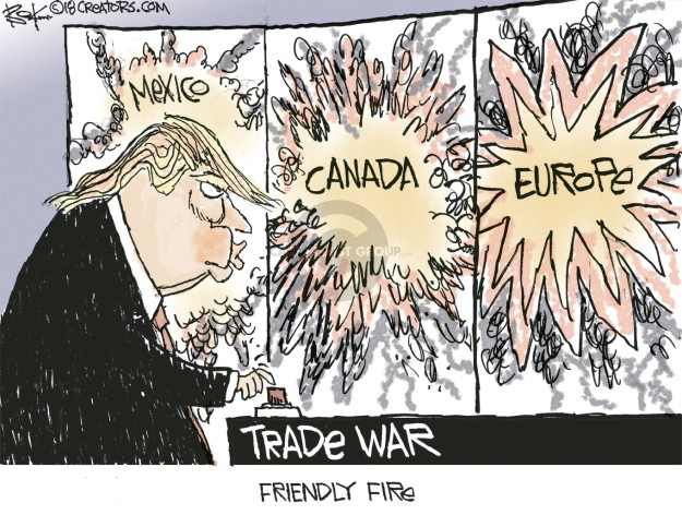 Chip Bok  Chip Bok's Editorial Cartoons 2018-06-01 trade war