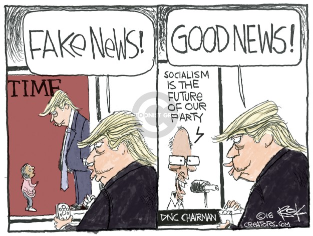 Cartoonist Chip Bok  Chip Bok's Editorial Cartoons 2018-07-09 fake news