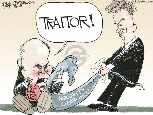 Chip Bok  Chip Bok's Editorial Cartoons 2018-07-27 NSA