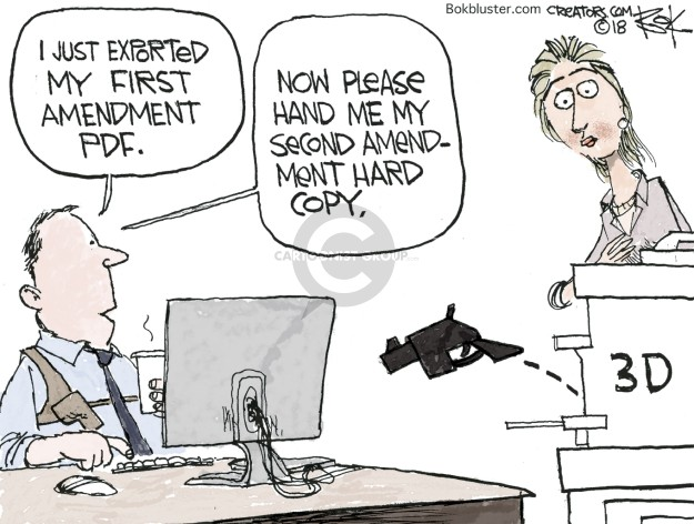 Cartoonist Chip Bok  Chip Bok's Editorial Cartoons 2018-07-31 gun violence