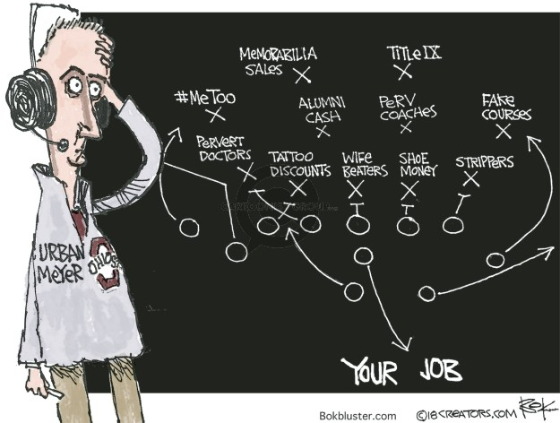 Cartoonist Chip Bok  Chip Bok's Editorial Cartoons 2018-08-03 college sports
