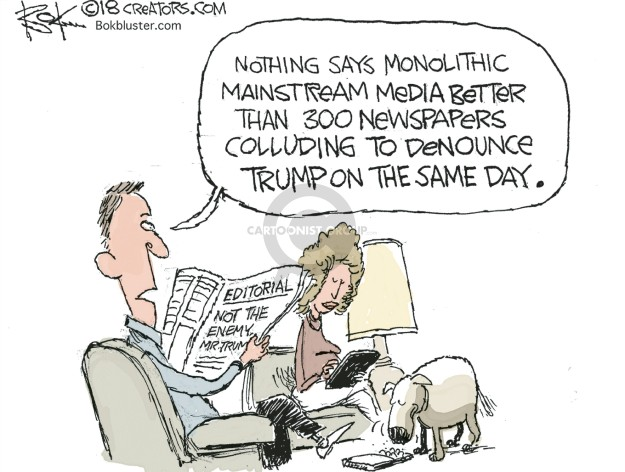 Chip Bok  Chip Bok's Editorial Cartoons 2018-08-17 journalist