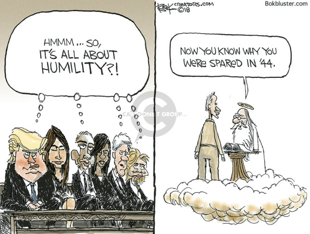 Hmmm … so, its all about humility?! Now you know why you were spared in 44.