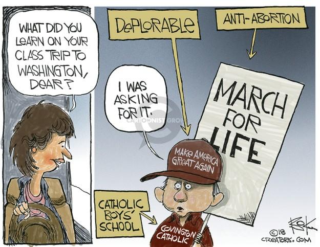 Cartoonist Chip Bok  Chip Bok's Editorial Cartoons 2019-01-23 conservative