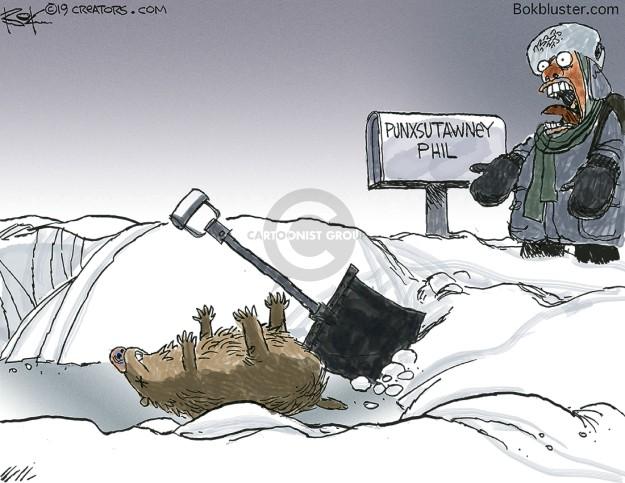 Cartoonist Chip Bok  Chip Bok's Editorial Cartoons 2019-02-01 storm