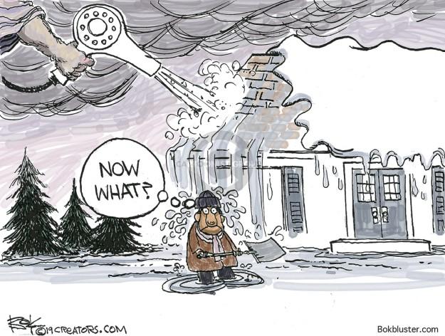 Cartoonist Chip Bok  Chip Bok's Editorial Cartoons 2019-02-03 storm