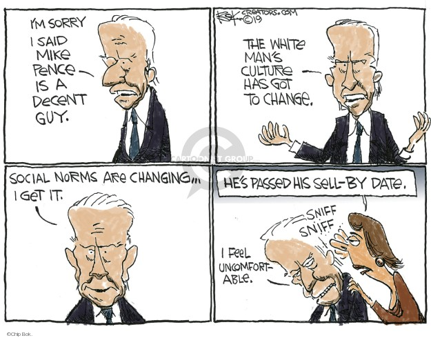 Chip Bok  Chip Bok's Editorial Cartoons 2019-04-05 Joe Biden