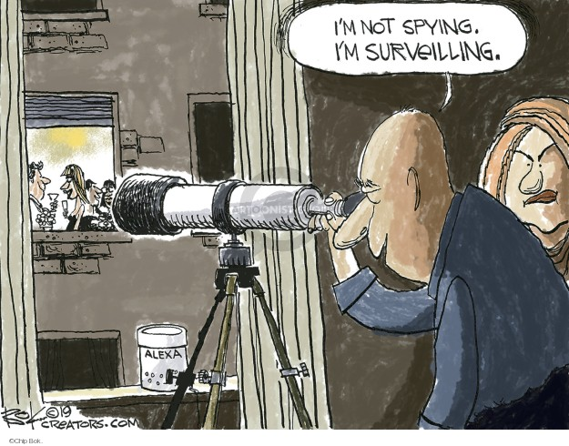 Cartoonist Chip Bok  Chip Bok's Editorial Cartoons 2019-04-12 spy