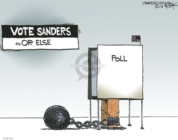 Chip Bok  Chip Bok's Editorial Cartoons 2019-04-28 Bernie Sanders