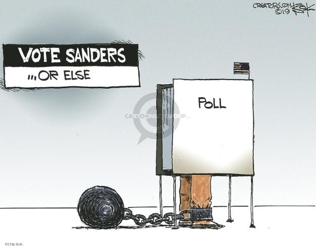 Cartoonist Chip Bok  Chip Bok's Editorial Cartoons 2019-04-28 Democratic voter