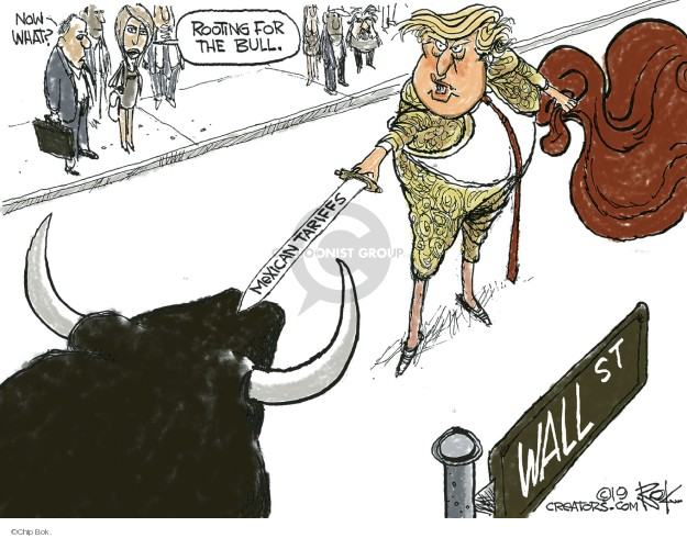Cartoonist Chip Bok  Chip Bok's Editorial Cartoons 2019-06-01 stock