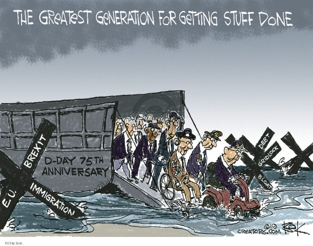 Cartoonist Chip Bok  Chip Bok's Editorial Cartoons 2019-06-06 immigration