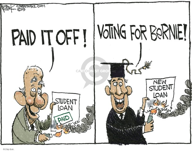 Chip Bok  Chip Bok's Editorial Cartoons 2019-06-25 loan