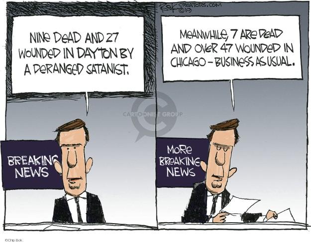 Cartoonist Chip Bok  Chip Bok's Editorial Cartoons 2019-08-06 political media