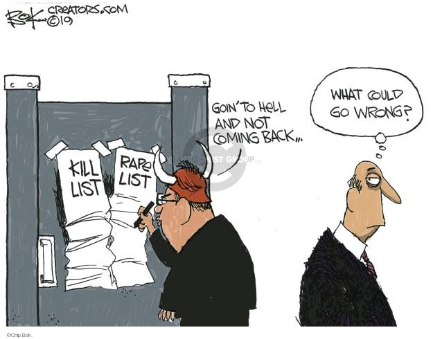 Chip Bok  Chip Bok's Editorial Cartoons 2019-08-07 back