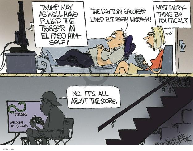Cartoonist Chip Bok  Chip Bok's Editorial Cartoons 2019-08-10 violence