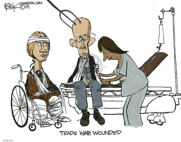Trade war wounded.