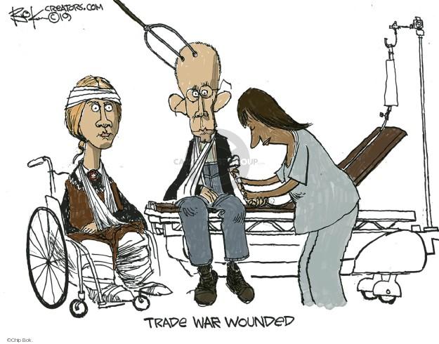 Cartoonist Chip Bok  Chip Bok's Editorial Cartoons 2019-08-21 trade
