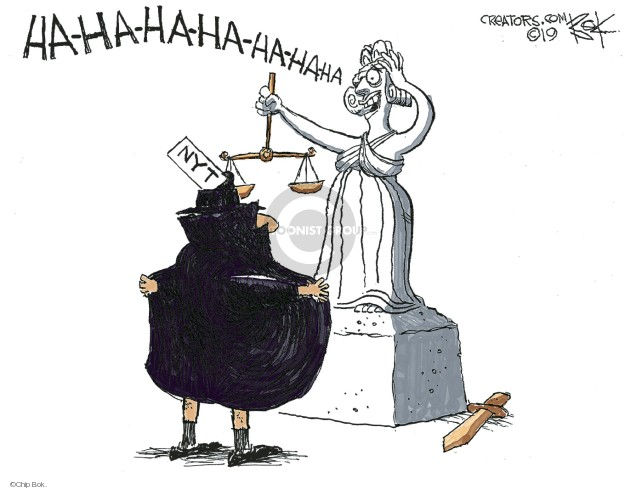 Cartoonist Chip Bok  Chip Bok's Editorial Cartoons 2019-09-18 justice