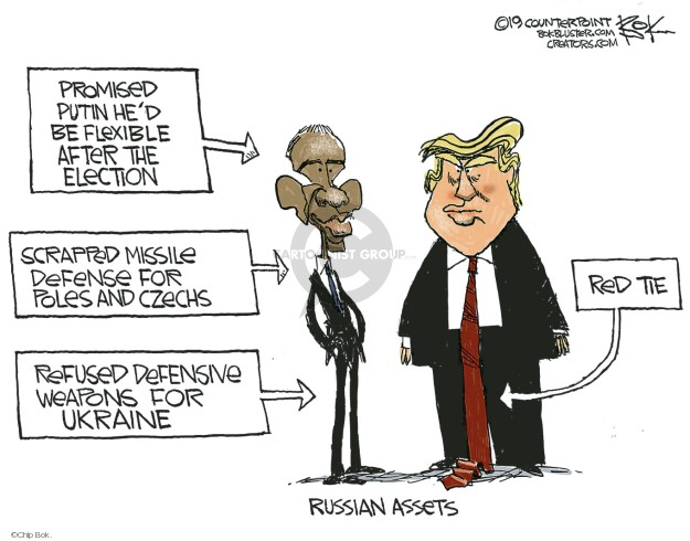 Cartoonist Chip Bok  Chip Bok's Editorial Cartoons 2019-12-06 Barack Obama Vladimir Putin