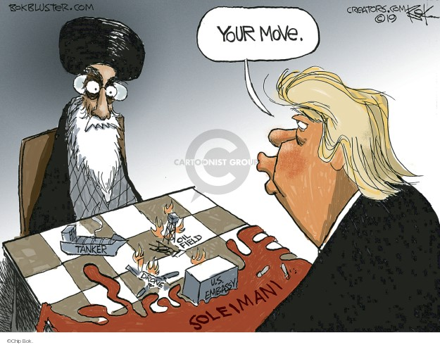 Cartoonist Chip Bok  Chip Bok's Editorial Cartoons 2020-01-04 international affairs
