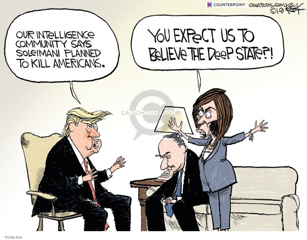 Cartoonist Chip Bok  Chip Bok's Editorial Cartoons 2020-01-09 Donald