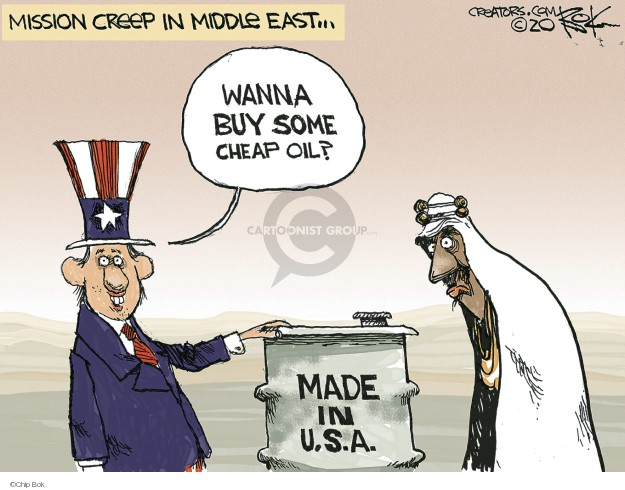 Chip Bok  Chip Bok's Editorial Cartoons 2020-01-13 oil
