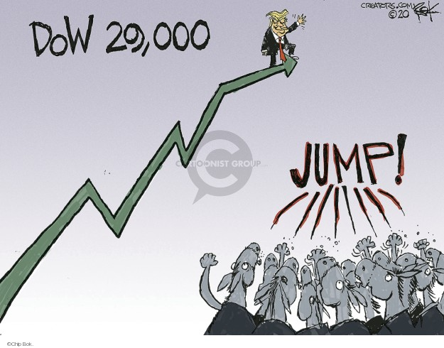 Chip Bok  Chip Bok's Editorial Cartoons 2020-01-17 economy