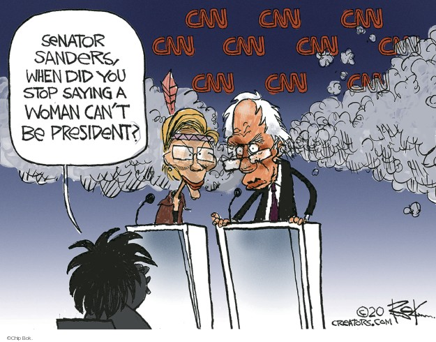 Chip Bok  Chip Bok's Editorial Cartoons 2020-01-21 2020 election debate