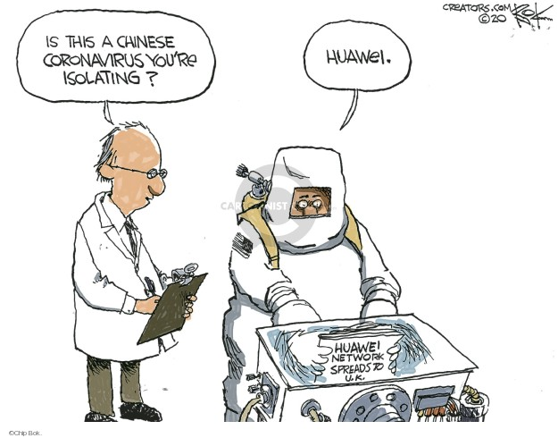 Cartoonist Chip Bok  Chip Bok's Editorial Cartoons 2020-01-31 technology