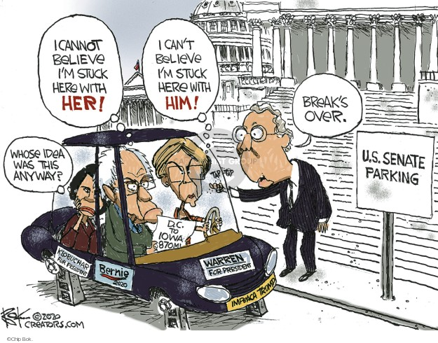 Cartoonist Chip Bok  Chip Bok's Editorial Cartoons 2020-02-01 candidates republicans