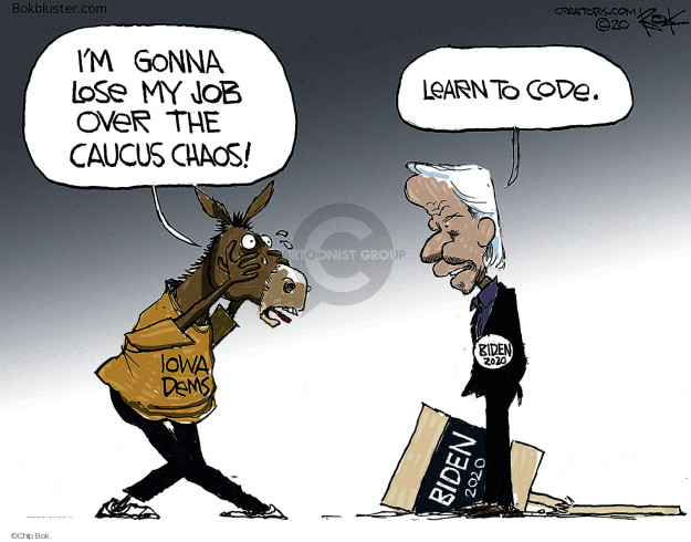 Cartoonist Chip Bok  Chip Bok's Editorial Cartoons 2020-02-05 election