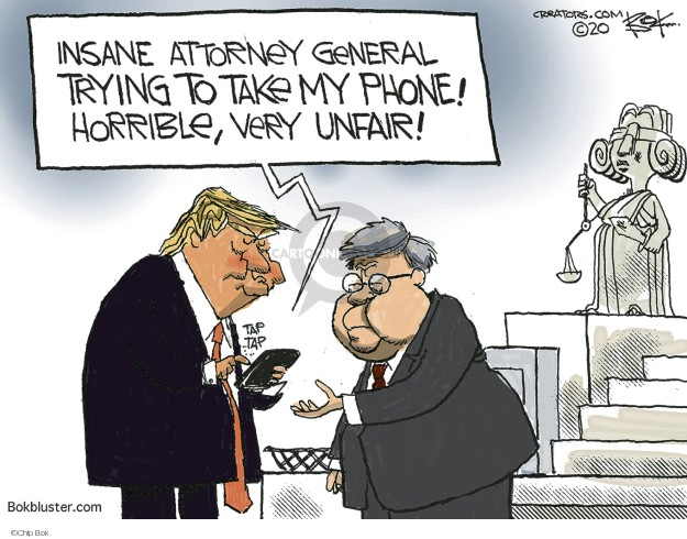 Cartoonist Chip Bok  Chip Bok's Editorial Cartoons 2020-02-15 attorney