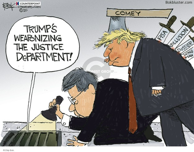Cartoonist Chip Bok  Chip Bok's Editorial Cartoons 2020-02-20 justice