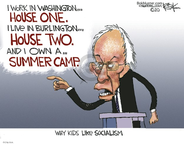 Chip Bok  Chip Bok's Editorial Cartoons 2020-02-21 democratic