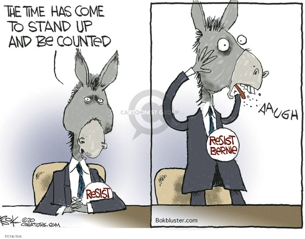 Chip Bok  Chip Bok's Editorial Cartoons 2020-02-27 democratic