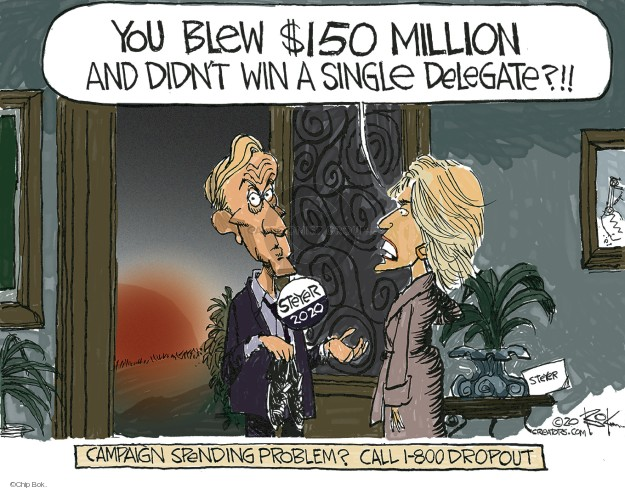 Chip Bok  Chip Bok's Editorial Cartoons 2020-03-03 billionaire