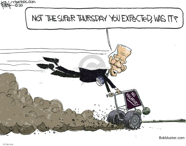 Cartoonist Chip Bok  Chip Bok's Editorial Cartoons 2020-03-04 Joe Biden