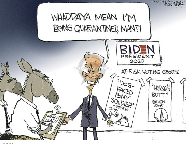 Chip Bok  Chip Bok's Editorial Cartoons 2020-03-13 risk