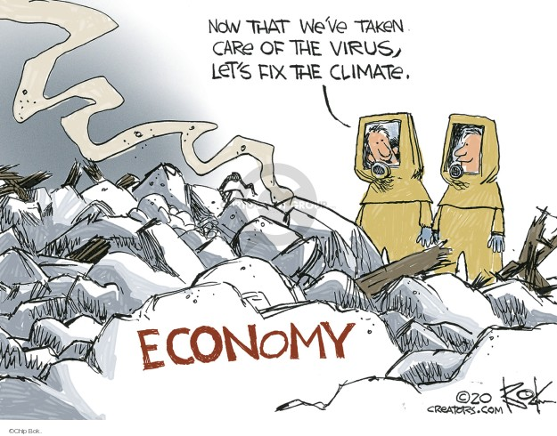 Cartoonist Chip Bok  Chip Bok's Editorial Cartoons 2020-03-18 economy