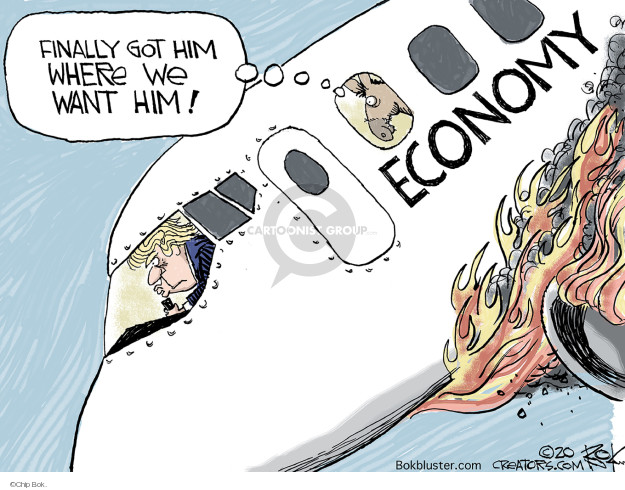 Cartoonist Chip Bok  Chip Bok's Editorial Cartoons 2020-03-30 economy