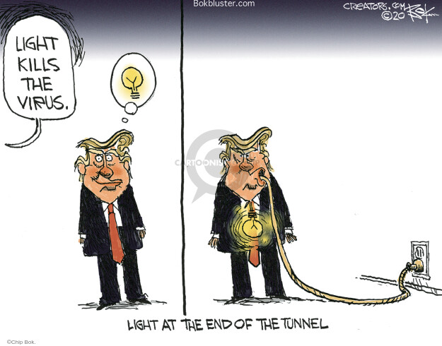 Cartoonist Chip Bok  Chip Bok's Editorial Cartoons 2020-04-25 presidential leadership