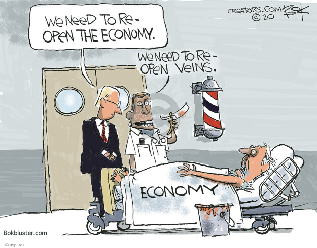 Chip Bok  Chip Bok's Editorial Cartoons 2020-05-05 economy