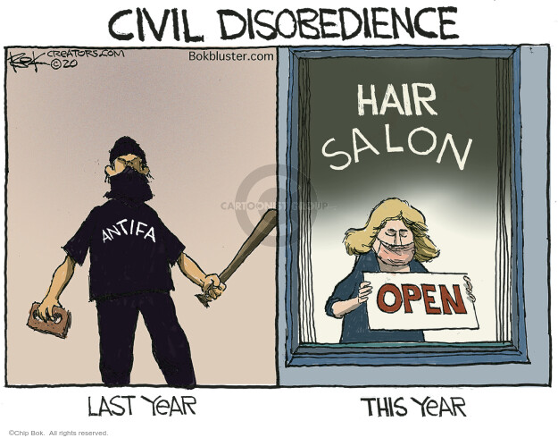 Chip Bok  Chip Bok's Editorial Cartoons 2020-05-14 civil disobedience
